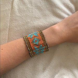 Aztec Beaded Stretch Bracelet
